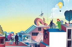Conceptual Editorial Illustrations by Björn Öberg | Inspiration Grid | Design Inspiration  #illustration #editorialillustration #drawing #concept #inspirationgrid