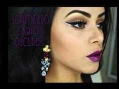 Maquillaje Sofisticado y Labios Oscuros
