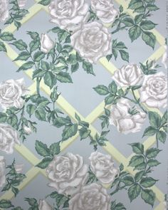 vintage wallpaper white roses