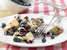 Haferflocken-Kaiserschmarrn mit Heidelbeeren - smarter - Kalorien: 400 Kcal | Zeit: 40 min. #pfannkuchen #pancake #rezept #blaubeeren #haferflocken