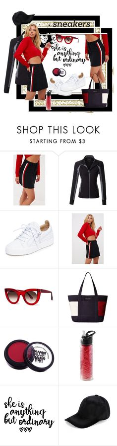 """""""White Sneakers"""" by georgine-d ❤ liked on Polyvore featuring LE3NO, Giuseppe Zanotti, Thierry Lasry and Tommy Hilfiger"""