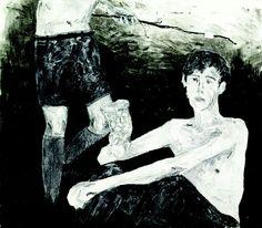 hernan bas art | Hernan Bas, Hot Boy , 2001, Water-based oil on paper, 9-1/2 x 11-1/4 ...