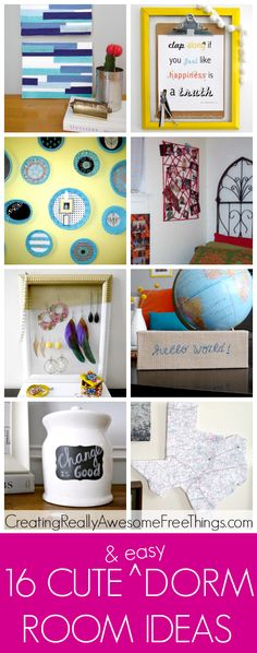 16 really cute and easy dorm room craft ideas!