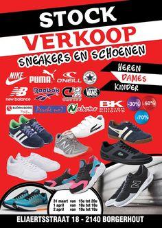 stockverkoop schoenen en sneakers -- borgerhout -- 31/03-02/04