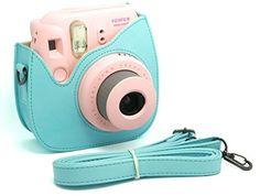 Woodmin Blue PU Leather Fujifilm Instax Mini 8 case bag + Free Shoulder Strap, http://www.amazon.com/dp/B00H6Q7HX4/ref=cm_sw_r_pi_awdm_cSfwub0WDGSWK