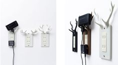 Brilliant! Outlet covers that hold your phone.