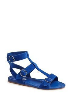 Wearing now. Love, esp @60% off.  Prada Triple Buckle Gladiator Sandal available at #Nordstrom