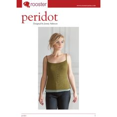 Peridot Camisole in Rooster Delightful Lace. Discover more Patterns by Rooster at LoveKnitting. We stock patterns, yarn, needles and books from all of your favorite brands.