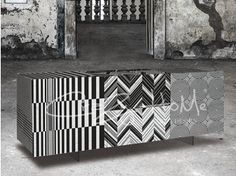 Sideboard with doors OPTICAL | Sideboard - MOMENTI di Bagnai Matteo