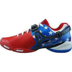 adidas barricata 7 uomini scarpe da tennis (cosa / blu / rosso) pinterest
