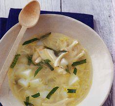 zuppa di pollo e porro