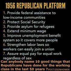 Liberal Americans posted this photo. What happenef to that GOP?
