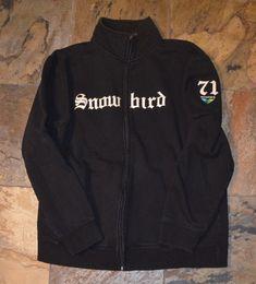 2c945209ca3 Mens  SNOWBIRD Ski Resort Black Full-Zip Sweatshirt Size Medium  fashion   clothing  shoes  accessories  mensclothing  activewear (ebay link)