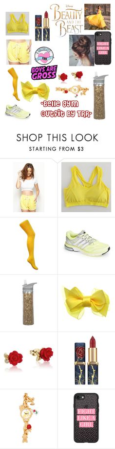"""""""Belle Gym Outfit"""" by supergirlsweetart ❤ liked on Polyvore featuring adidas, Emma Watson, Disney and Casetify"""