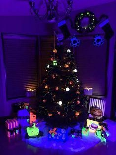 glow in the dark nightmare before christmas christmas tree setup christmas christmas christmas themes - Nightmare Before Christmas Lights