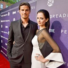 SULTRY STARE | A serious Josh Hartnett and costar Eva Green gaze deep into the lens at the premiere for Showtime's Penny Dreadful at the High Line Hotel in New York City on Tuesday.