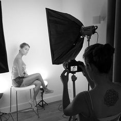 Behind the scene of the Afew shooting, with the gorgeous Anastacia!