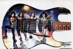 BC Rich with Custom Kiss Destroyer Artwork by www.beyondcustomguitars.com