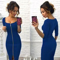 ea836f591d92 Casual Autumn Winter Zipper Fashion Party Dresses Black