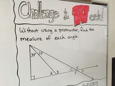 With the beginning of our geometry units in 6th grade math, it has been all about angles and triangles this past week! Thanks to some creative (and cheap!) angle ideas I found on social media, I was a