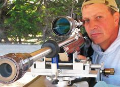 Joe Friedrich Myers 22LR ARA rimfire rifle with LimbSaver Sharpshooter X-Ring Barrel Dampener equipped.