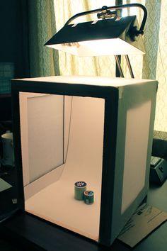Cardboard box to make photo box
