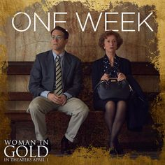 Only a week to go until Woman In Gold opens in select theaters April 1st, starring #HelenMirren, #RyanReynolds, #DanielBruhl, and #KatieHolmes. #WomanInGold