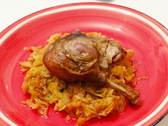 Rață la cuptor cu varză acră călită/ Roasted duck with pickled cabbage
