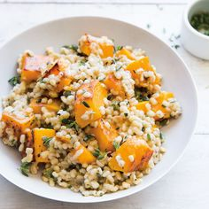 Who could say no to this Butternut Squash Barley Risotto?