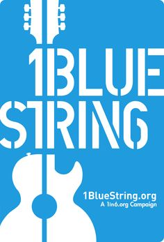 1BlueString asks guitarists to replace one of their six strings with a blue string to symbolize and support the 1 in 6 men sexually abused in childhood. Learn more at 1in6.org and pavingtheway.net