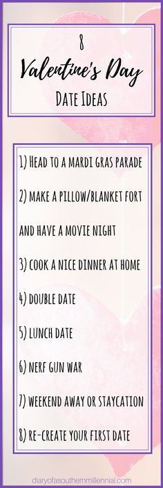 How are you planning to celebrate Valentine's Day? If still haven't figured out what to do and are looking for a few fun ideas, I've got you covered!  #valentinesday #dateideas #datenight #valentine