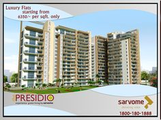 Beside the lake, beneath the trees, lies my heaven. That is how William Wordsworth put in words, his dreams of his private retreat. Experience the soothing calm in midst of plying town of Faridabad. Live in The Presidio by Sarvome – You will love where you live. Call: 1800-180-1888