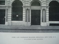 Home Life Insurance Building, Broadway , New York, NY, 1897, N. Le Brun & Sons