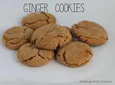 ginger cookies Cooking with Crystal