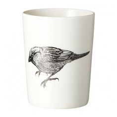 By Nord Otto Cup Sparrow (£14) ❤ liked on Polyvore featuring home, home decor, office accessories, kitchen, white pen, porcelain pen, tattoo pen, porcelain cups and white cups