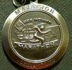 Des Moines marathon 2010 finisher's medal Marathon Running