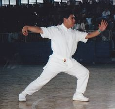 Single Whip James Fu Qing Quan Shanghai 1999 Yang Style Tai Chi, Energy Arts, Qigong, Yin Yang, Kung Fu, Shanghai, Martial Arts, Evolution, Chef Jackets