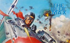 The Blue Max, movie poster - a 1966 British war film, starring;  George Peppard, James Mason and Ursula Andress.