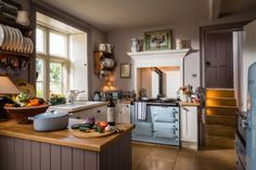 Country chic kitchen with Aga