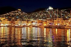 Greece, Syros- I've been here! Beautiful pic of the city. Syros Greece, Chios, Greece Islands, The Beautiful Country, Greece Travel, Beautiful Islands, Paris Skyline, Places To Visit, Around The Worlds