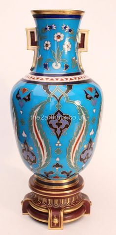 Arts and #crafts #antique christopher dresser #minton pottery cloisonné vase c.1,  View more on the LINK: 	http://www.zeppy.io/product/gb/2/162200328583/