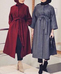 Modern Hijab Fashion, Muslim Women Fashion, Girls Fashion Clothes, Winter Fashion Outfits, The Cardigans, Hijab Fashionista, Stylish Dresses For Girls, Dress Shirts For Women, Parka