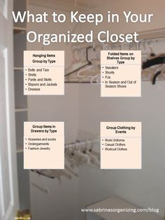 What to Keep: What to Keep in Your Organized Closet