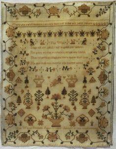 Early 19th Century Silk Work Sampler BY Jane Wilton Aged 10 1838   eBay
