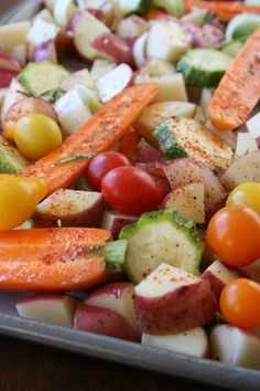 Tips for roasting veggies. It's a little silly how much I love roasting veggies. They taste SO much better that way!
