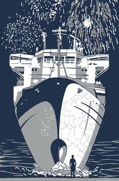 Posts about Kat Menschik written by Anna Sadurni Surfboard, Architecture Design, Digital Art, Illustration Art, Drawings, Painting, Jazz, Shirt, Black