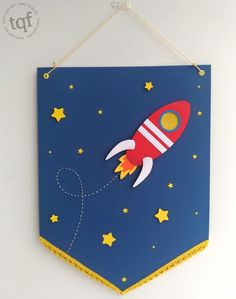 Space Party, Space Theme, Sewing Toys, Sewing Crafts, Astronaut Party, Wall Banner, Wallpaper Space, Boy Birthday Parties, Baby Party