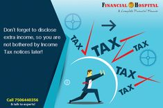 There are certain incomes which are left out erroneously and you become liable to pay tax later. Consult experts to file your taxes on 9699 800600!  #TaxPlanning #FinancialFreedom #MoneyTips
