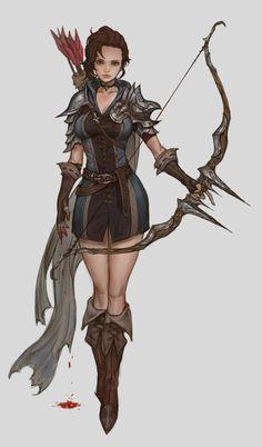 Resultado de imagem para archer arqueiro art fantasy concept