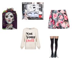 """""""doll"""" by beccawoohoo ❤ liked on Polyvore featuring Wildfox, Leg Avenue and Paper Dolls"""